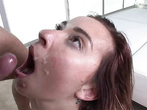 Redhead Spreads And He Pounds Her Young Pussy