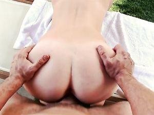 Big Cumshot On The Sexy Young Redheaded Slut