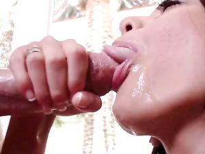 Big Dick Busts A Heavy Nut In Her Hot Mouth