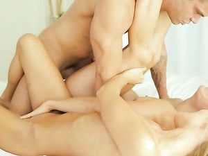 Babes Swallow Cock Together And Get Fucked Hardcore