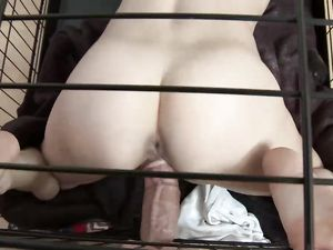 Caged Teenager Takes Cock From Her Master