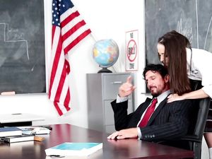 Teacher Gives Her A Facial And An A In Class