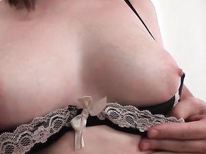 Perky Titties Shaking While Riding A Long Dong