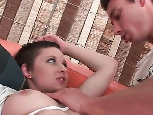 Short Haired Teen Picked Up And Fucked Anally