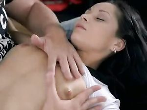 Beauty On Her Back For A Big Cock Hardcore Pounding