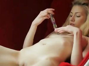 Perfect Blonde Teen Beauty Toys Her Soaked Pussy