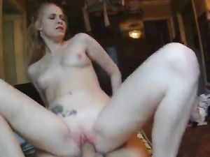 Picked Up And Getting Her Tight Cunt Pouned