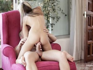 Reverse Cowgirl Sex With The Tiny Teen On Top