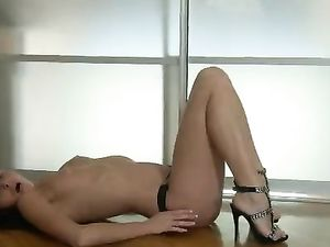 Hot Girl In High Heels Masturbates Her Beautiful Pussy