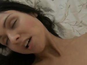Joyful Masturbation Makes A Fit Brunette Horny