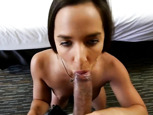 Spy Glasses Record An Amazing Brunette Fucking In Pov