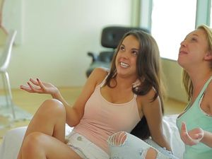 Threesome Fun With Two Very Horny Teen Chicks