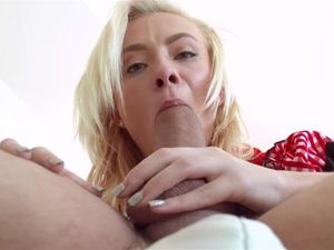 Teen Costume Cutie Gives An Amazing Hot Blowjob