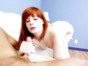 Fiery Red Hair Looks Hot On The Cocksucking Slut