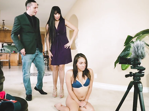 Couple Fucks The Cute Teen Babysitter Together