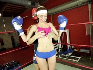 Boxing And Banging A Skinny Teen In The Ring